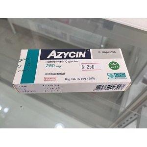 画像1: 【ネット最安値宣言】アジスロマイシン(AZYCIN)250mg/6錠×1箱