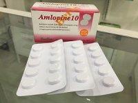 アムロジピン 10mg(Amlopine 10mg)10錠×3シート(箱なし)