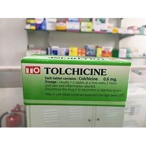 画像1: コルヒチン 0.6mg(TOLCHICINE)100錠×1箱※1回発送
